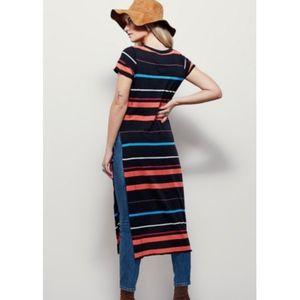 Free People Too Legit Striped Tunic Top